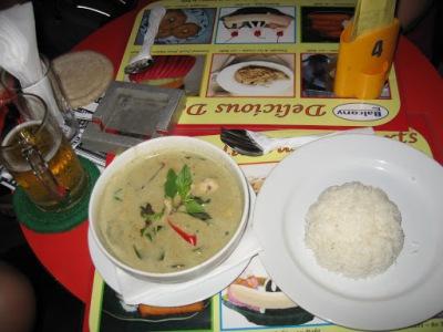 O primeiro curry na Tailândia