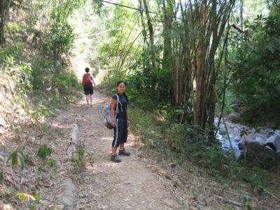 A caminho da cachoeira