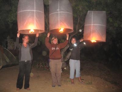 Nossas lanternas de papel...