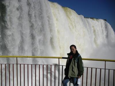 As cachoeiras têm um volume de água impressionante!