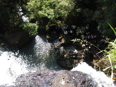 Cachoeira ao final da trilha