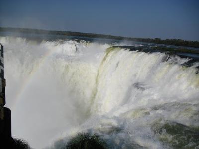 Ponto de união das cachoeiras