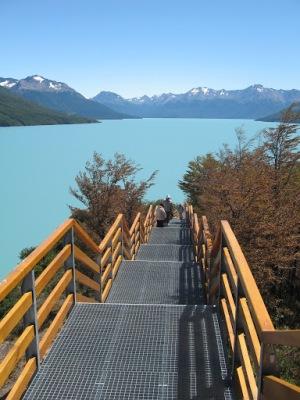 A vista do Lago Argentino