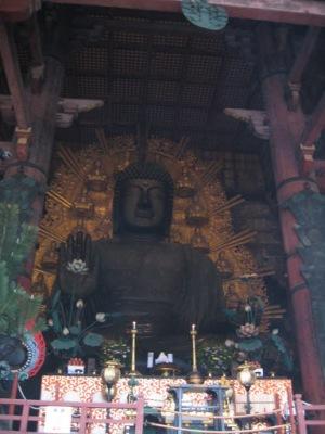 Buda do templo Todaiji. A maior imagem de bronze do mundo