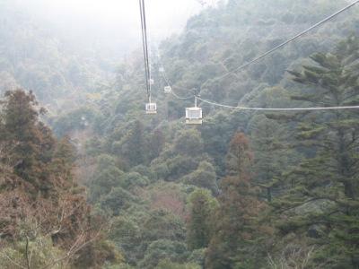 Os teleféricos te levam montanha acima