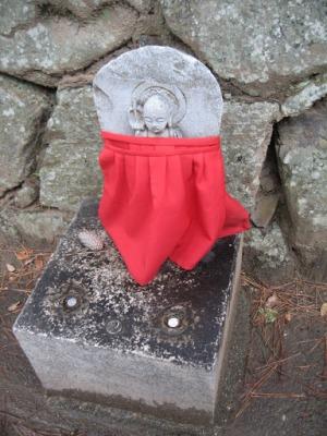 O pano vermelho representa proteção para crianças