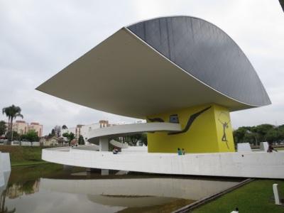 Museu Oscar Niemeyer, com destaque para o olho