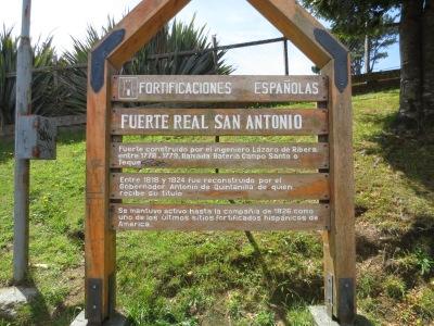 Entrada do Forte San Antonio