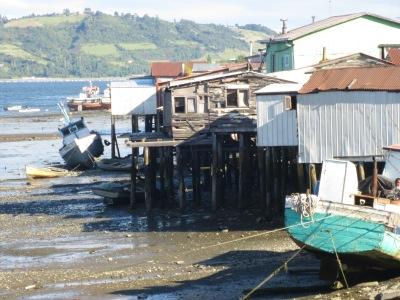 Palafitos, casas sobre a água