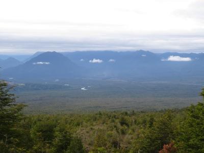 Vista de cima do Vulcão Osorno