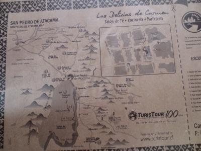 Mapa com as principais atrações da região