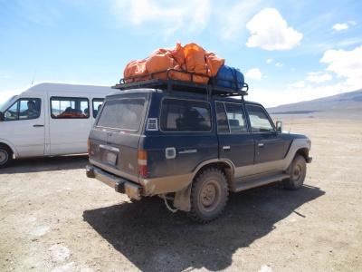 Carro 4x4, companheiro de aventuras pelos próximos 2 dias e meio