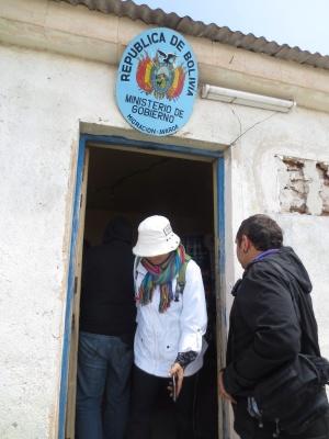 Isso é a aduana da Bolívia