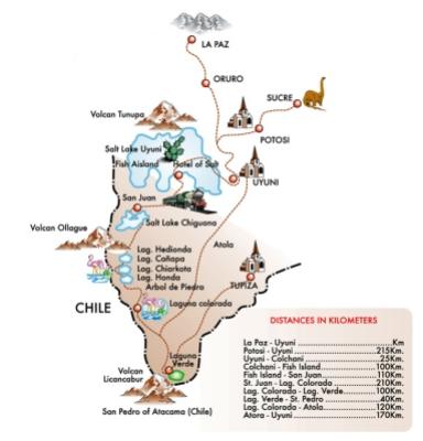 Mapa de Uyuni